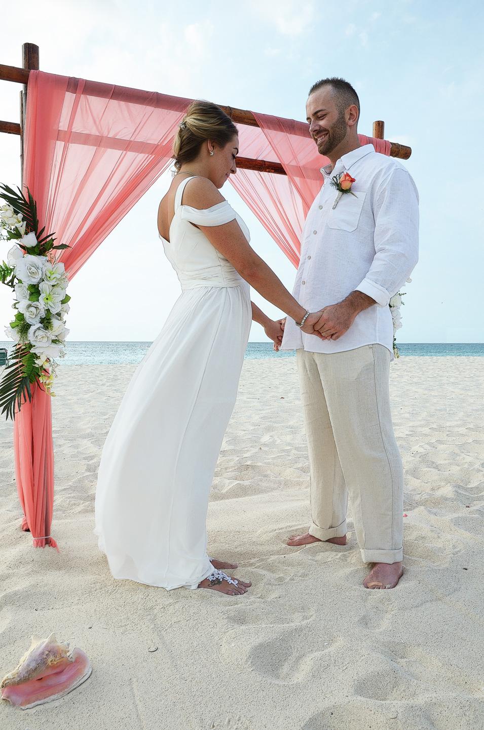 Aruba beach wedding